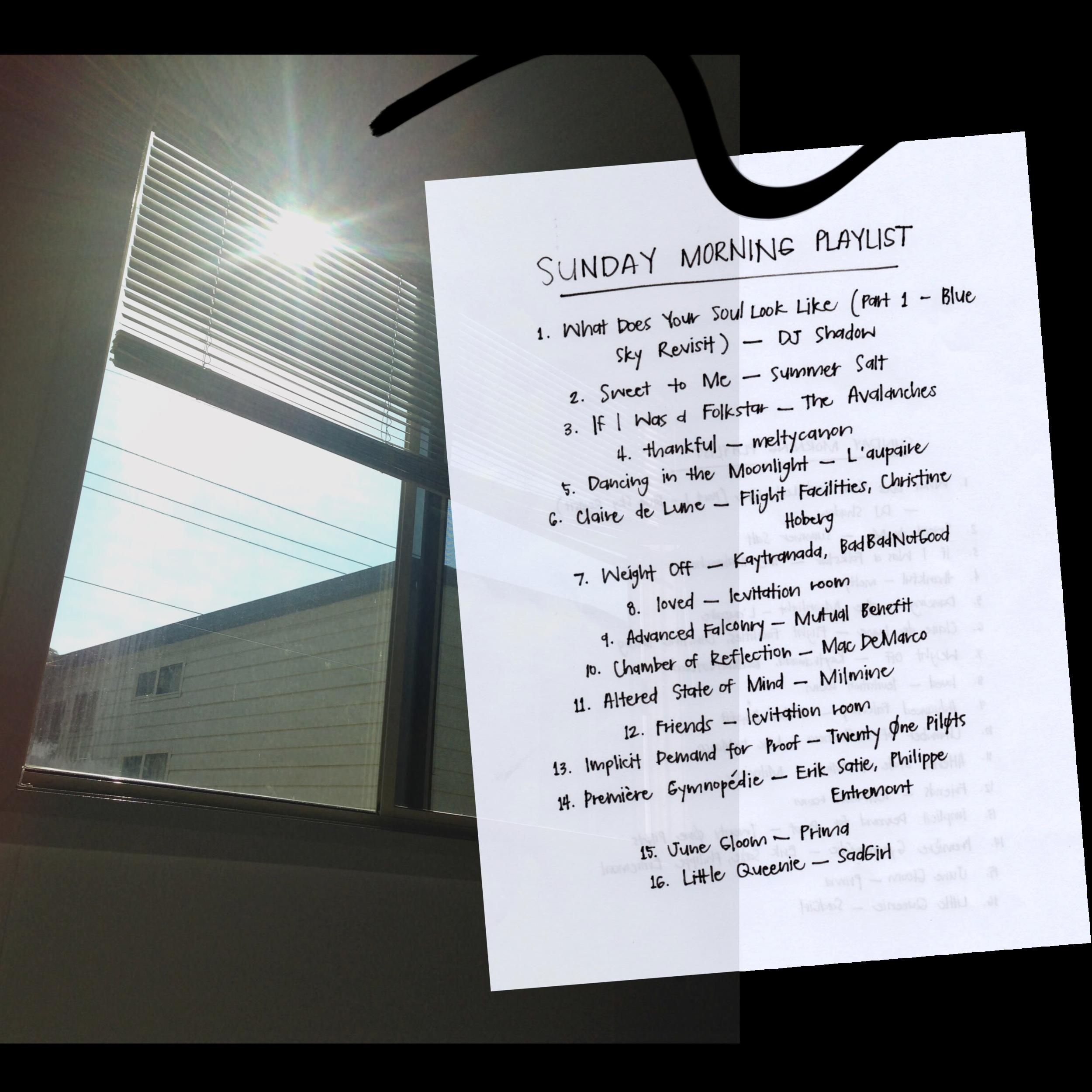 Sunday Morning Playlist – carmelajulian